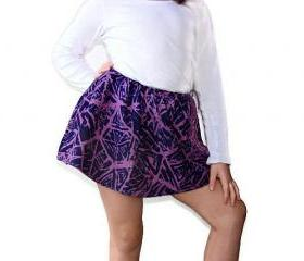 Kids clothes. Purple skirt with fringe. Handmade fashion skirts for girls