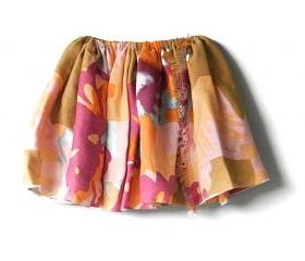 Toddler Floral Skirt, Reversible Skirt for Girls, Kids Summer Clothing
